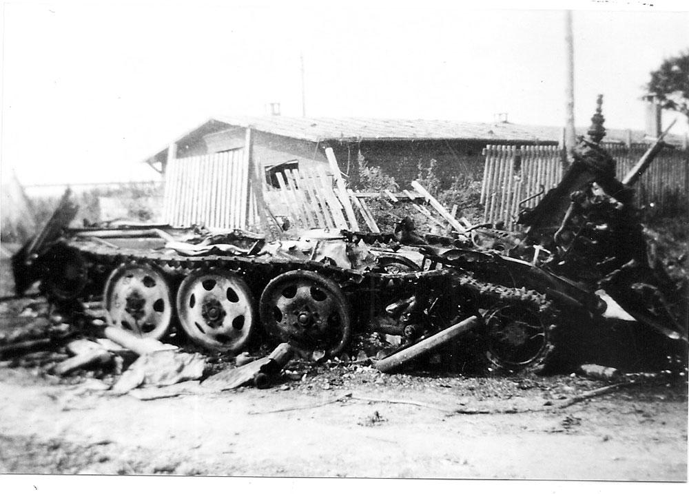Epave de char allemand 08-1944